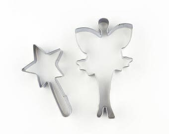 2pcs/Set Fairy Cookie Cutters- Fondant Biscuit Mold - Pastry Baking Tool Set