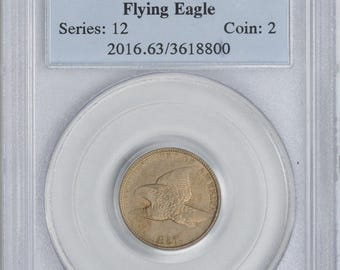 1857 Flying Eagle Cent MS63 PCGS