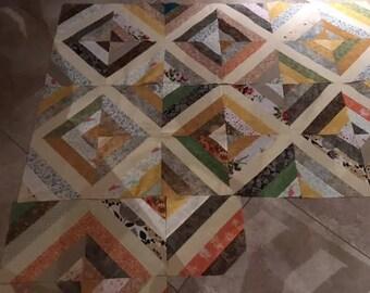 Diamond Scrap Lap Quilt