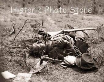 Dead Confederate Solider on the  Spotsylvania Battle Field.