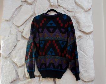 Geometric 90's Sweater