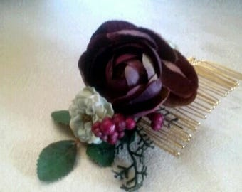 Shabby Chic, Vintage, Rustic Hair Comb