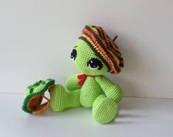 crochet turtle, turtle amigurumi, handmade by me