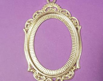 Antiqued Silver Frame Pendant