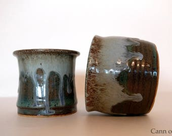 Small Blue Green Bowls (set of 2)