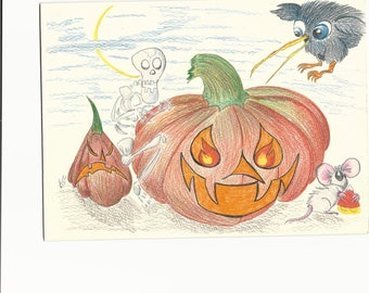 Grinning Halloween Pumpkins