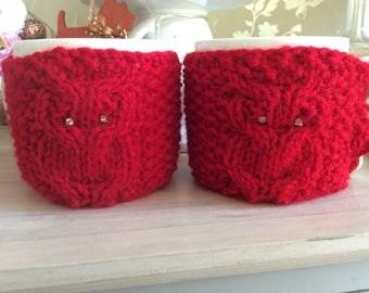 Owl Mug cozy, cup cosy, coffee cosie