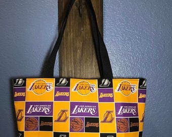 Lakers basketball tote bag