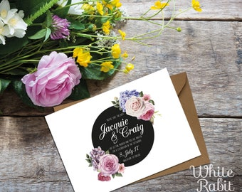 Spot on Floral - Bespoke Save the Date Invitations with envelopes