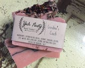 Rose and Charcoal Soap Homemade / All Natural
