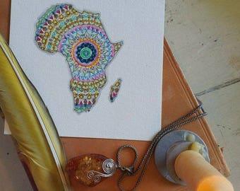 Africa Mandala Art