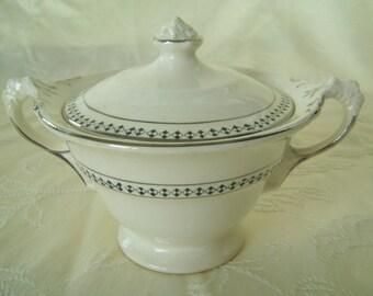 Lidded Sugar Bowl Crown Potteries