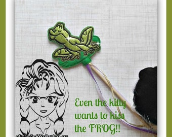 FROG Kiss Princess ~ Pencil Topper & WaND ~ In the Hoop ~ Downloadable DiGiTaL Machine Embroidery Design by Carrie