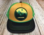 """Toddler Trucker Hat with """"Climb Higher"""" Patch..."""