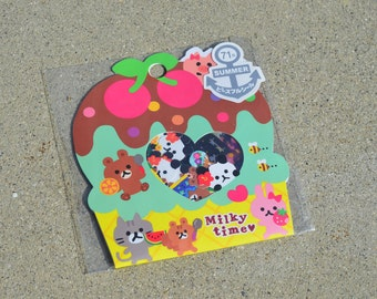 Kawaii Sticker Flakes - Cute Animals - Pouch of 70 Stickers