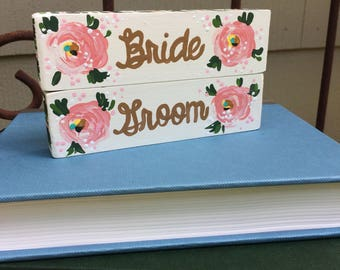 Bride and Groom Placeholders