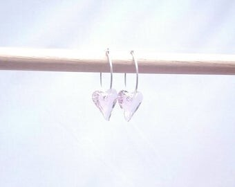 A Little Wild at Heart Earrings with Swarovski Crystals and Sterling Silver