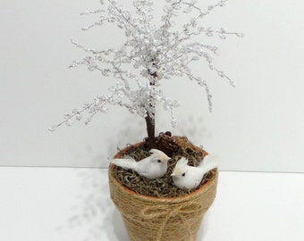 French beaded Winter Tree