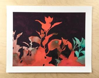 NEW // Smoke Bush Shadow Print // Modern Decor // Garden Lovers // Plant Paintings // Modern Watercolor // Modern Abstract // Modern Print