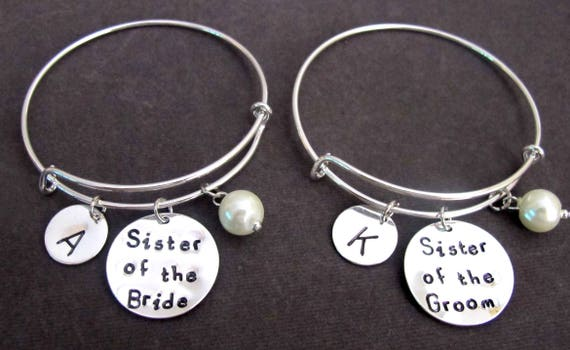 Sister of Bride Gift,Sister of Groom Gift, Sister In Law Gift Bangle Bracelet, Sister In Law Bracelet, Mother In Law gift,Free Shipping USA