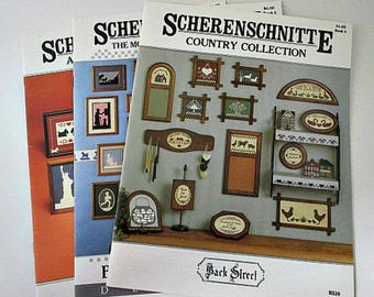 3 Scherenschnitte Pattern Booklets - Lot of 4 Back Street Designs Pattern Booklets - German Paper Cutting Art Craft