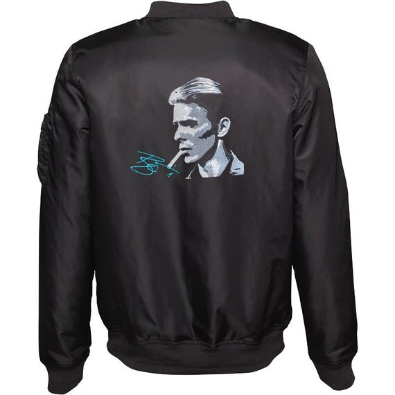 Women's Bomber Jacket - Embroidered - David Bowie