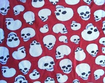 Punky Skulls Lycra Mesh Fabric One Metre