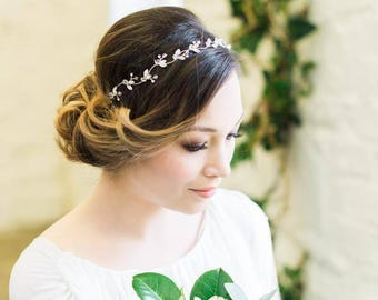 Sparkling Diamante Hair Vine, Navette