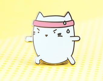 Yoga Pin - cat enamel pin, pin hat badge