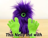 Custom Purple Nervous Nelly with blue feet and eye