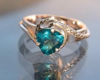 Sea Swept - Teal Topaz gemstone ring