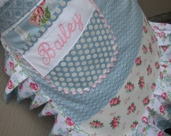 Womens Pink Rose Aprons - Womens Aprons - Shabby Chic Aprons - Pink Dots Aprons - Cottage Chic Aprons - Annies Attic Aprons - Etsy Aprons