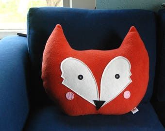 Fox Pillow, Nursery Decor, Kids Pillow, Fox Cushion,  Plush Fox, Kids Room Decor