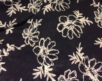 Polyester Silky Floral Print  Fabric 2 Yards