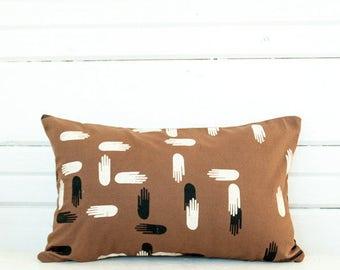 Lumbar Pillow—Las Manos Print