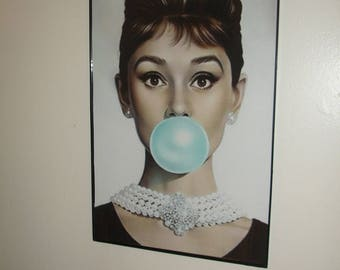 AUDREY HEPBURN framed print*11x17*Hollywood icon*Wonderful