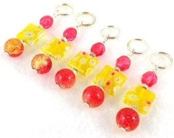 Maraschino Cherry Stitch Marker Set - Customizable for Knitting or Crochet