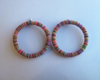 Lasercut merino wool earrings