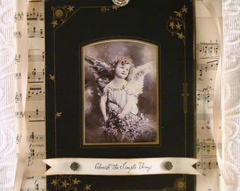 PDF Angel Canvas Collage Assemblage Tutorial no shipping cost