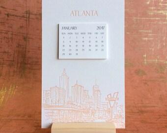 Atlanta Cityscape 2017 Postcard Calendar