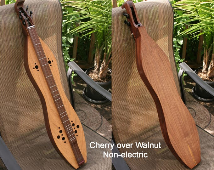 Cherry-Walnut Mountain Dulcimer, 4-string with sound-hole options