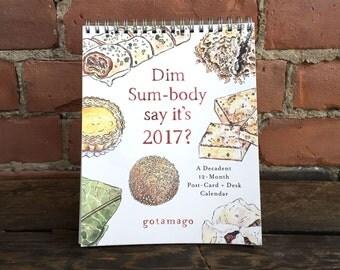 SALE: Dim Sum 2017 Post-Card Desk Calendar