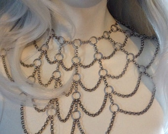 Chain Spider Web Shoulder Necklace