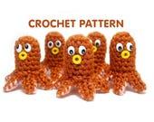 PDF Crochet Pattern - Hot Dog Octopus