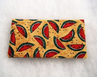 Checkbook Cover - Waterlmelons2