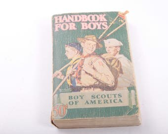 Vintage Handbook for Boys, Boy Scouts of America, Guide Book, Outdoors, Survival, Pretty Worn, Vintage ~ The Pink Room ~ 160907
