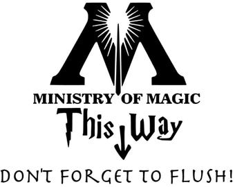 Ministry of Magic This Way Harry Potter inspired vinyl sticker decal car window sticker