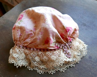 1920s Baby or Doll Silk Cap