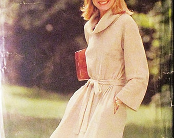 1990s Sewing Pattern See & Sew 5830 Misses Dress Pattern Size Large (16-18)