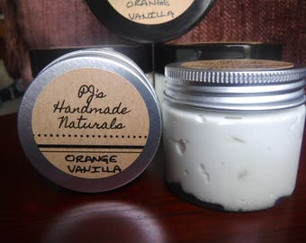 100% Natural Whipped Body Butter - Sweet Orange & Warm Vanilla